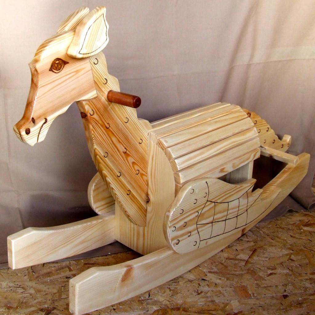 wooden rocking dragon