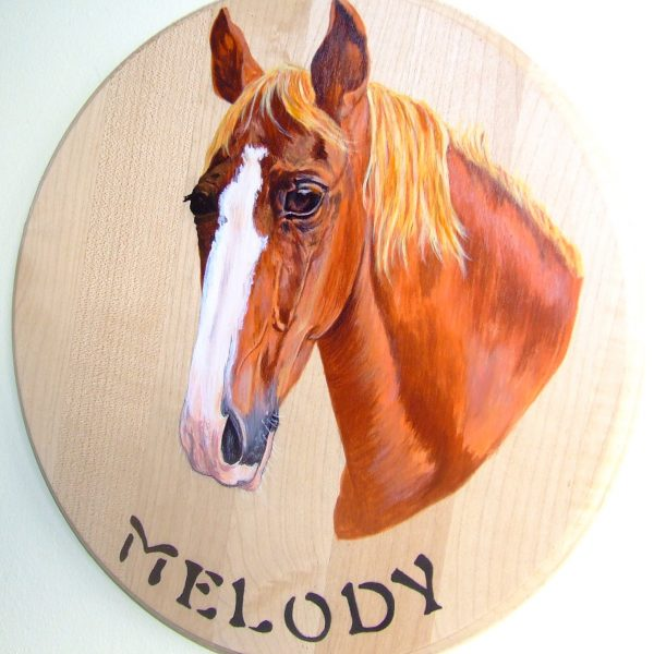 Hand painted animal plaque