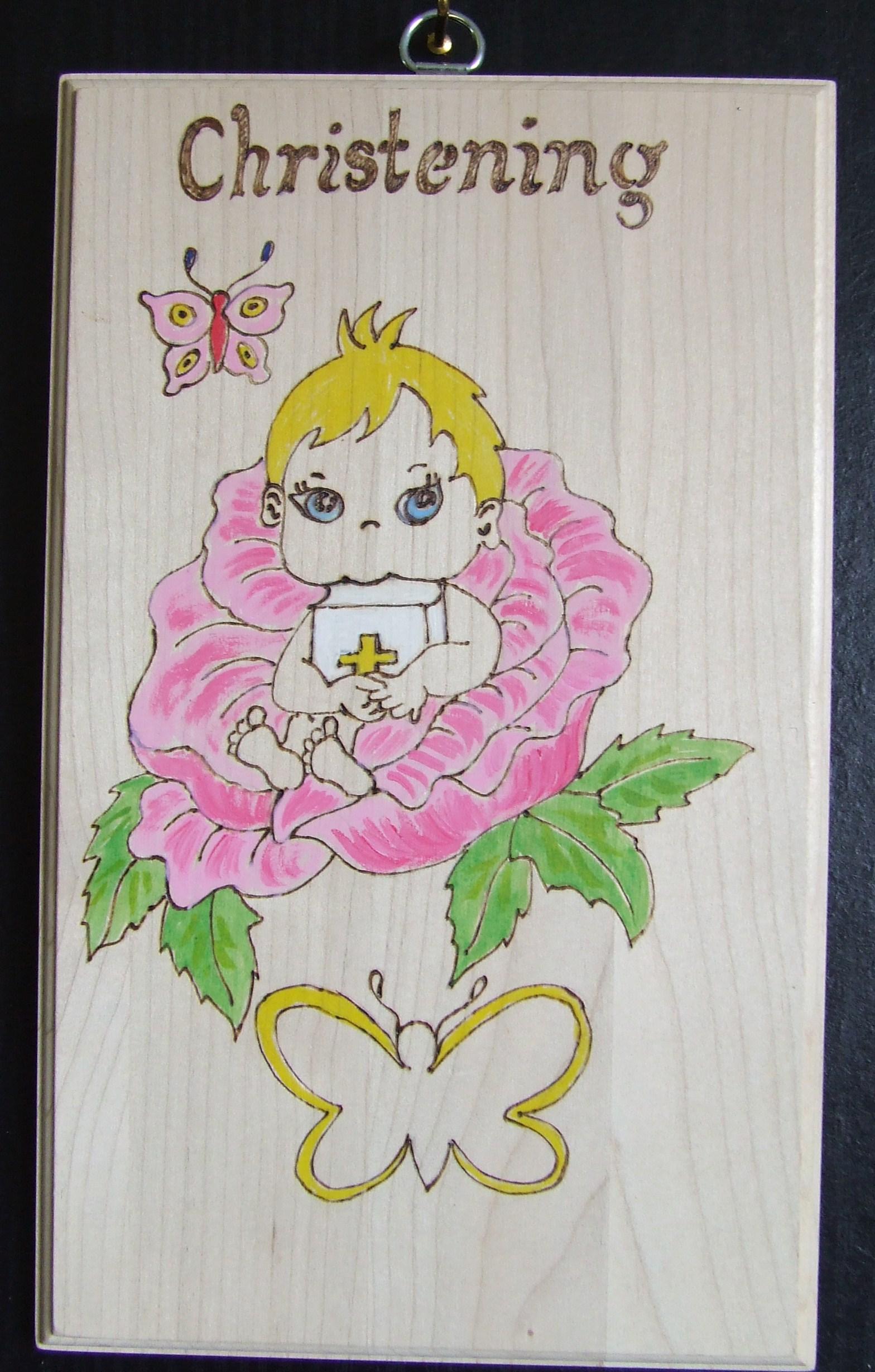 Christening Plaque Girl